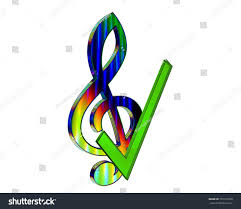 3d rendering musical note wings on stock illustration 725122078