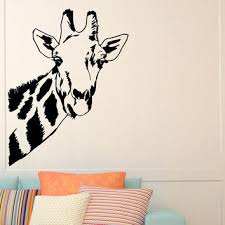 Giraffe Wall Decals For Nursery Giraffe Wall Decal Safari Jungle From Wisdomdecals On Etsy