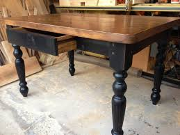 Country Farmhouse Kitchen Table Plans  Luxury Homes - Farmhouse kitchen table with drawers