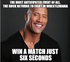 Rock Meme - rocky wins lol dwayne the rock johnson know your meme