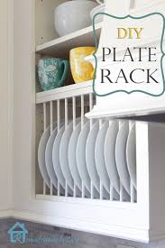 diy inside cabinet plate rack plate racks tutorials and