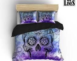 sugar skull bedding etsy