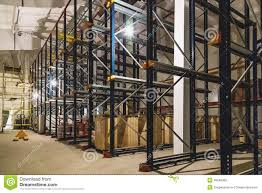 warehouse interior with empty shelves stock photo image 49249382
