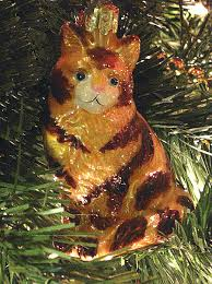 world glass cat ornaments