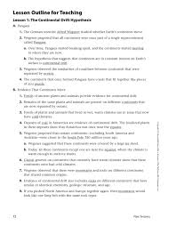 7 1 continental drift outline worksheet answers