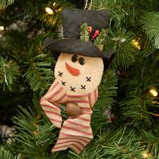 primitive snowman ornament ornaments and
