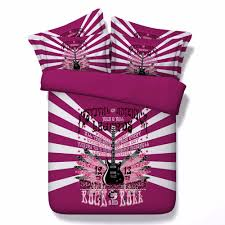 aliexpress com buy 3d bedding red guitar print twin queen king