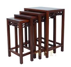 chinese antique carved rosewood nesting table set 14lp49 tables