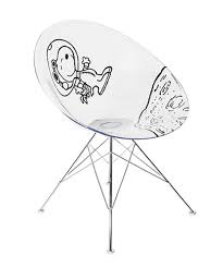 kartell x black peanuts astronaut snoopy ero s chair by philippe