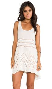 free people voile and lace trapeze slip in tea combo revolve