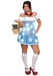 wonderful wizard of oz costumes halloweencostumes com plus size sequin dorothy costume
