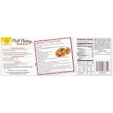 puff sheets pepperidge farm puff pastry frozen sheets pastry dough 2 count