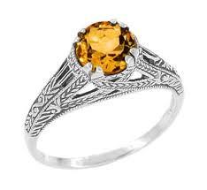citrine engagement rings vintage citrine rings citrine engagement rings antique jewelry