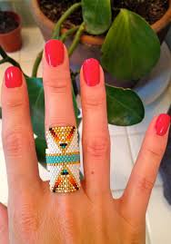 special intro price native beaded ring by wildmintjewelry on etsy