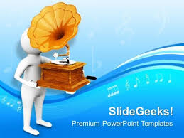 gramophone is oldest way to listen music powerpoint templates ppt