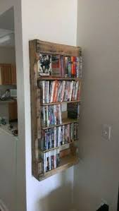 Wall Mounted Dvd Shelves Pallet Wood Dvd Rack Made From An American Pallet Wall Mounted