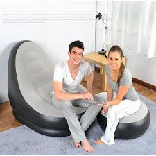 Intex Inflatable Sofa With Footrest by 2 Pcs Inflatable Sofa Air Pump New Inflatable Lounge Sofa With