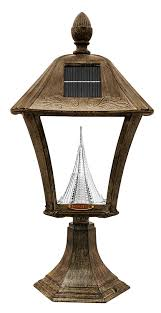 Solar Lamp Post Lights Outdoor by Amazon Com Gama Sonic Baytown Solar Outdoor Led Light Fixture
