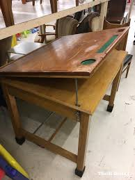 Leonar Drafting Table Before After Drafting Table Makeover With Beyond Paint Beyond