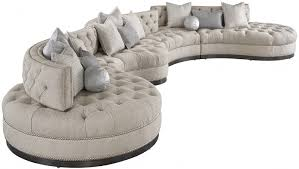 Dove Grey Leather Sofa Oversized Dove Grey Sectional With Curved Lines Tufted Cushions A