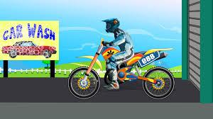 motocross toy bikes bike car wash toy bike for kids videos for children baby