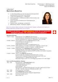 Cv Vorlage Schweiz Word Lebenslauf Schweiz Starengineering