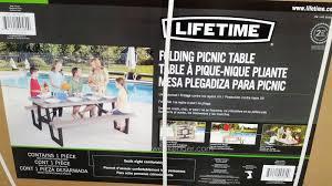 lifetime picnic table costco lifetime folding picnic table costco home design ideas
