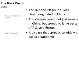 europe lesson 6 the black