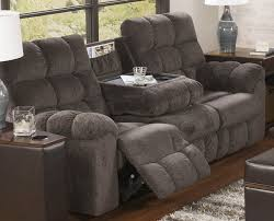 living room reclining sofa with drop down table ashley antwan