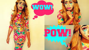 halloween hippie makeup looks pop art comic halloween makeup tutorial youtube