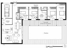 plan 4 chambres plain pied plan maison 4 chambre plain pied beautiful maison plain pied 5