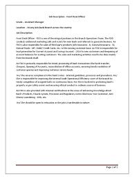 Job Desk Safety Officer Job Description Fdo Axis Bank Transaction Account Banks