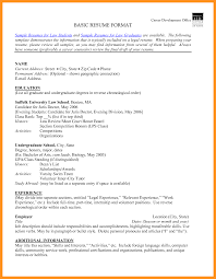 standard resume format basic resume examples for students basic