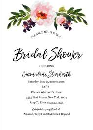 bridal invitation templates free printables