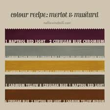 colour mixing recipe u2014 merlot u0026 mustard