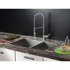 ruvati rvc1612 combo stainless steel faucet u0026 sink kitchen combos