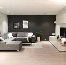 Sweet Home Interior Design Salon Contemporain Gris Anthracite Bois Salon Pinterest