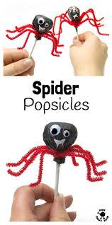 halloween treats lollipop spiders kids craft room