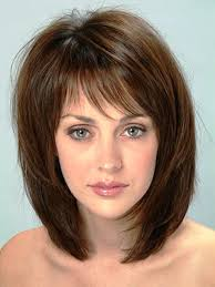 best short to medium hairstyles for thin fine hair with thin bangs