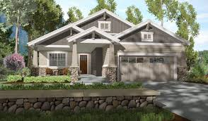 plan 64410sc 2 bed bungalow with rear covered patio bungalow