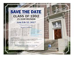 thanksgiving day 1992 class of 1992 save the date for your 25 year reunion jesuit