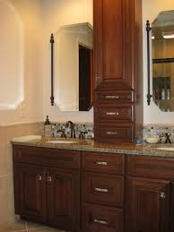 bathroom vanity with linen tower impressive awesome bathroom vanity and linen cabinet fancy plush