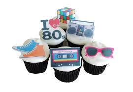 90s Theme Party Decorations 80s Theme Party 12 Edible Cupcake Toppers Birthday Party
