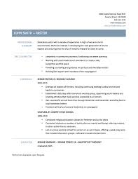 resume interests section examples pastor resumes great templates for pastoral resumes pastor resume template