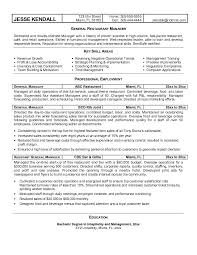 Bar Resume Examples by Resume Examples For Restaurant Manager Ilivearticles Info