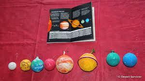 desert survivor solar system ornaments