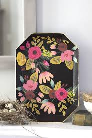Comfort Resources Diy Floral Decoupaged Tray Urban Comfort