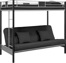 White Metal Futon Bunk Bed Black Metal Bunk Bed With Futon Interior Paint Colors For 2017