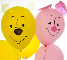 pooh piglet party balloons disney baby