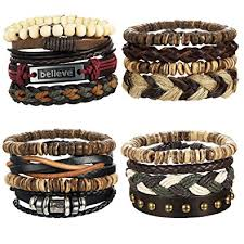 leather jewelry cuff bracelet images Loyallook 16pcs mens leather bracelet wrap cuff jpg